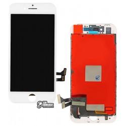 Дисплей iPhone 8, белый, с сенсорным экраном (дисплейный модуль), copy