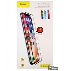 Защитное стекло Baseus 0.2mm All-screen Anti-blue Tempered Glass Film For iPhone XR \ Black