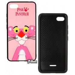 Чехол для Xiaomi Redmi 6A, TOTO, Cartoon Print Glass, Pink Panther