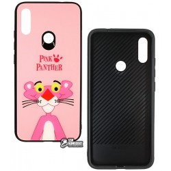 Чехол для Xiaomi Redmi Note 7, TOTO, Cartoon Print Glass, Pink Panther
