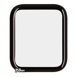 Закаленное защитное стекло для Apple Watch 40mm, 0,26 mm 9H, 3D, черное