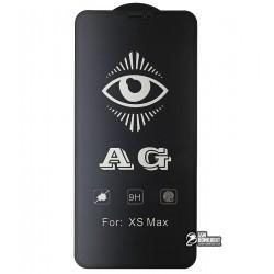 Закаленное защитное стекло для Apple iPhone XS Max, 0.26мм, 9H, 2.5D, Full Glue, матовое, черное