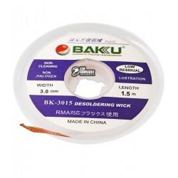 Лента-оплетка BAKU BK 3015, ш. 3,0 мм, д. 1,5 м