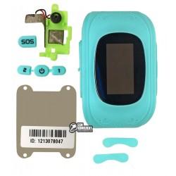 Корпус детских смарт часов Q50 со стеклом, голубой