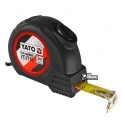 Рулетка YATO YT-7110 с магнитным наконечником и нейлоновым покрытием b=16мм, l=3м