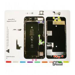 Магнитный мат Mechanic iP8 Plus для раскладки винтов и запчастей ( для iPhone 8 Plus )