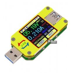 USB Тестер UM34C, USB 3,0, Bluetooth, 4-24В, 0-4А