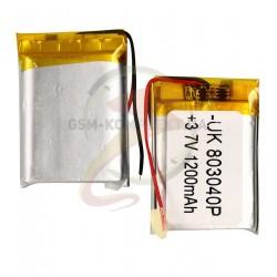 Аккумулятор универсальный, 41 мм, 30 мм, 7 мм, Li-ion 3.7 В, 1200мАч