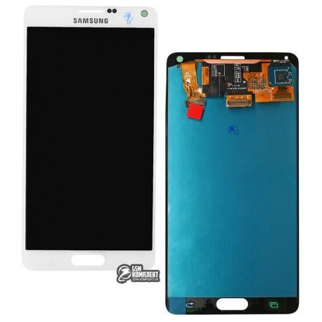 Дисплей для Samsung N910HGalaxy Note 4, белый, с сенсорным экраном (дисплейный модуль), original (PRC)