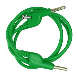 Шнур для мультиметра разветвляемый, банан-банан, зеленый, 1 м