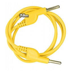 Шнур для мультиметра разветвляемый, банан-банан, желтый, 1 м