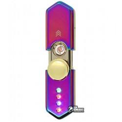 Зажигалка USB HL-10, электрическая со спиралью, спиннер
