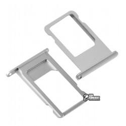 Держатель SIM-карты для Apple iPhone 6S Plus, серебристый
