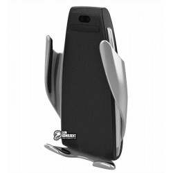 Беспроводная зарядка - автодержатель Wireless S5 (Чёрно-Стальной)