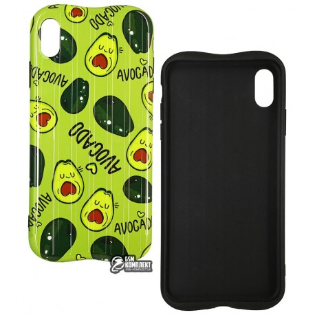 Чехол для iPhone Xs Max, Avacado Glossy case (TPU), силикон
