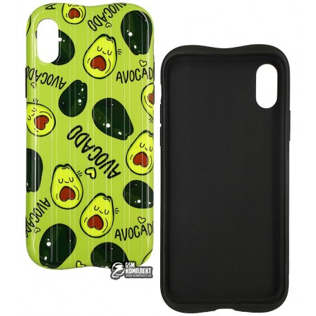 Чехол для iPhone X/Xs, Avacado Glossy case (TPU), силикон, green