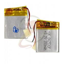 Аккумулятор универсальный, 32 мм, 25,3 мм, 3 мм, Li-ion, 3,7 В, 350 мАч 042530P