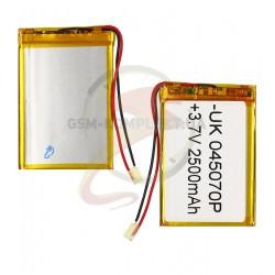 Аккумулятор универсальный, 70мм, 48 мм, 3,5 мм, Li-ion 3.7 В, 2500мАч, 045070P