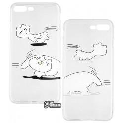 Чехол для Apple iPhone 7 Plus, iPhone 8 Plus, Viva Animal, силиконовый, матовый, кот