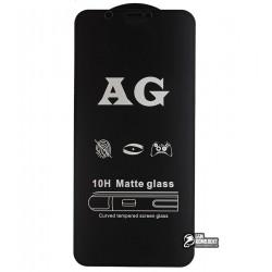 Закаленное защитное стекло для iPhone X, iPhone Xs, iPhone 11 Pro, 2.5D, Full Glue, матовое, черное