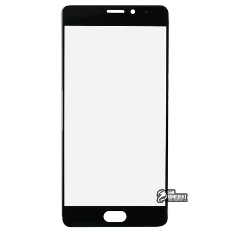 Скло корпусу для Meizu Pro 7 Plus, чорне