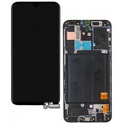 Дисплей для Samsung A405F/DS Galaxy A40, черный, с сенсорным экраном (дисплейный модуль), с рамкой, Original, #GH82-19672A