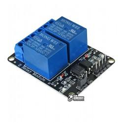 Двухканальный релейный модуль с опторазвязкой 12V