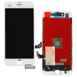 Дисплей iPhone 7, белый, с сенсорным экраном (дисплейный модуль), с рамкой, High Copy