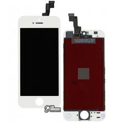 Дисплей iPhone 5S, iPhone SE, белый, с сенсорным экраном (дисплейный модуль), с рамкой, Сopy, NCC ESR ColorX