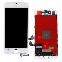 Дисплей iPhone 7, белый, с сенсорным экраном (дисплейный модуль), с рамкой, Сopy, NCC ESR ColorX