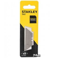 Лезвия трапециевидные сменные STANLEY, 62 x 0.65 мм, 5шт