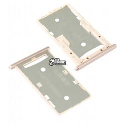 Держатель SIM-карты для Xiaomi Redmi 4A, золотой