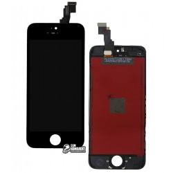 Дисплей iPhone 5C, черный, с сенсорным экраном (дисплейный модуль), с рамкой, Сopy, NCC ESR ColorX