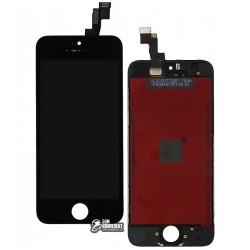 Дисплей iPhone 5S, iPhone SE, черный, с сенсорным экраном (дисплейный модуль), с рамкой, Сopy, NCC ESR ColorX