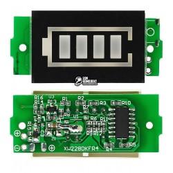 Индикатор уровня заряда батареи 18650 Li-ion, 3S 12,6V, зеленый