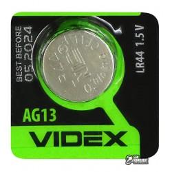 Батарейка AG13 / LR44 / A76 / GP76A / 357 / SR44W VIDEX Alkaline