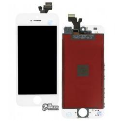 Дисплей iPhone 5, белый, с сенсорным экраном (дисплейный модуль), с рамкой, Сopy, NCC ESR ColorX