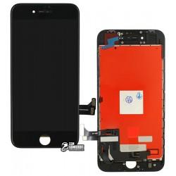 Дисплей iPhone 8, черный, с сенсорным экраном (дисплейный модуль), с рамкой, Сopy, NCC ESR ColorX