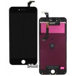 Дисплей iPhone 6 Plus, черный, с сенсорным экраном (дисплейный модуль), с рамкой, Сopy, NCC ESR ColorX