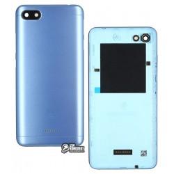 Задняя панель корпуса для Xiaomi Redmi 6A, голубая, dual SIM