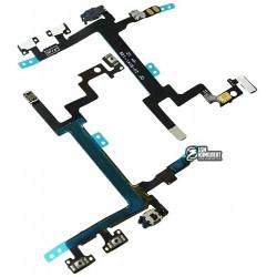 Шлейф для Apple iPhone 5, кнопок звука, кнопки включения, с компонентами