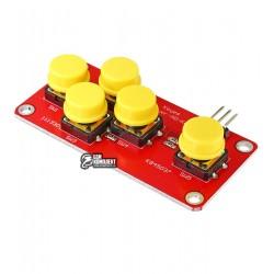 Джойстик-клавиатура на 5 кнопок для Arduino, аналоговый