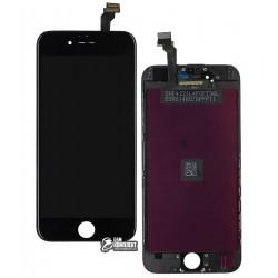Дисплей iPhone 6, черный, с сенсорным экраном (дисплейный модуль), с рамкой, Сopy, NCC ESR ColorX
