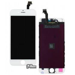 Дисплей iPhone 6, белый, с сенсорным экраном (дисплейный модуль), с рамкой, Сopy, NCC ESR ColorX