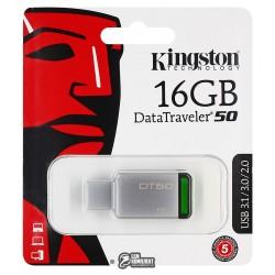 Флешка 16 Gb Kingston USB3.0 Kingston DT50/16Gb