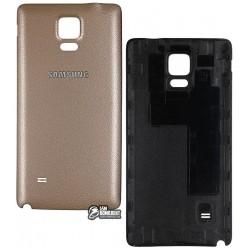 Задняя крышка батареи Samsung N910F Galaxy Note 4, N910H Galaxy Note 4, золотистая