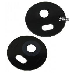 Стекло камеры для Motorola XT1771 Moto E4 Plus, размер d 21 мм, черное