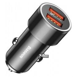 Автомобильное зарядно устройство Baseus Small Screw 2USB / QC / 36Вт