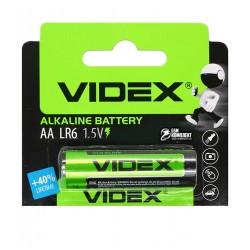 Батарейка Videx Alcaline, отрывная, LR06, AA, 1 шт