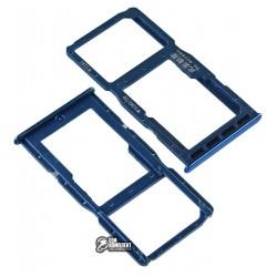 Держатель SIM-карты для Huawei P30 Lite, синий, c держателем MMC